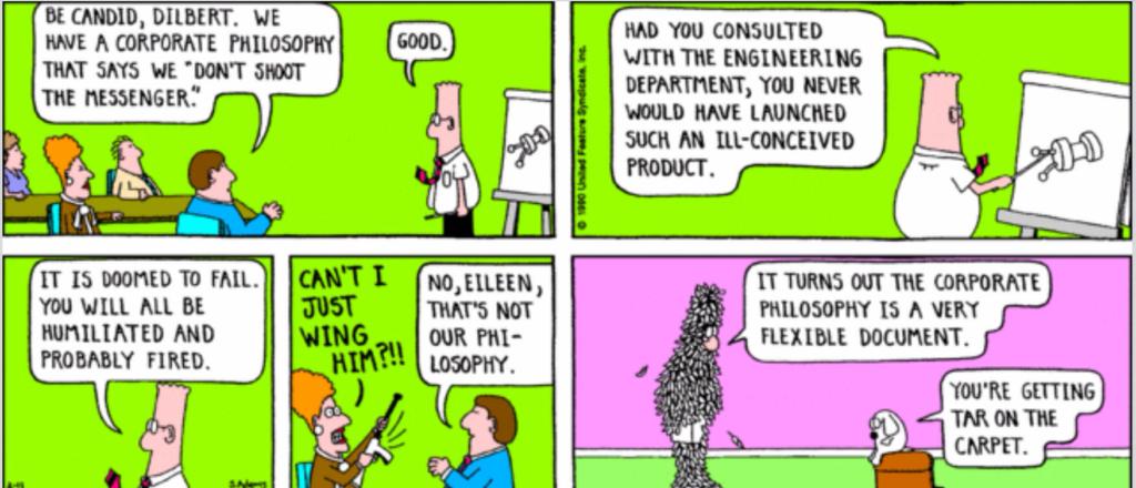 Shoot messenger Dilbert